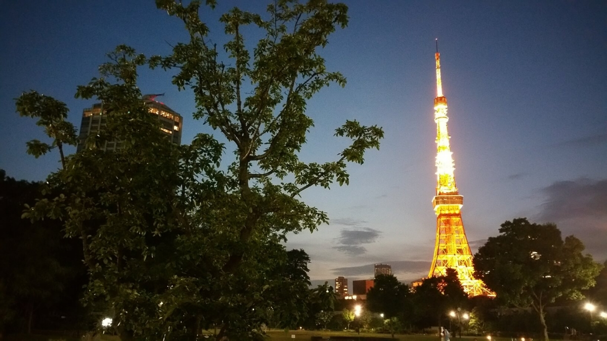 会場からは、東京タワーが見えました。