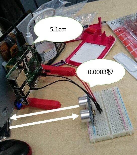 距離を一定時間ごとに測定しAWSに情報を送信する