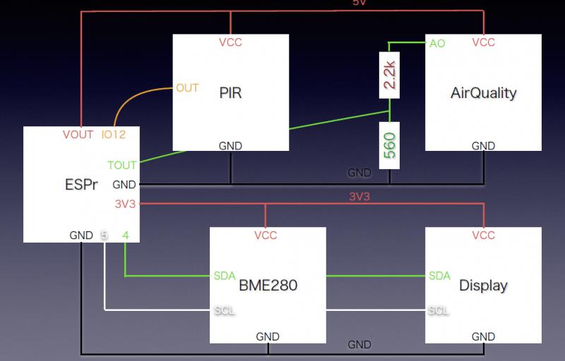 IoT勉強会で使った回路図
