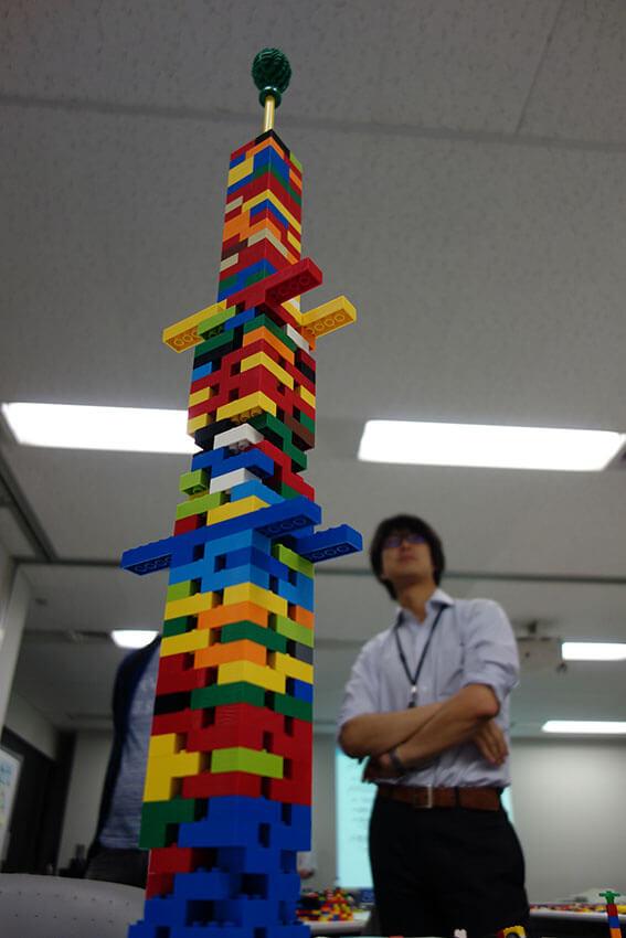 他にもスカイツリーを作ったチームがありました。高さがすごい!