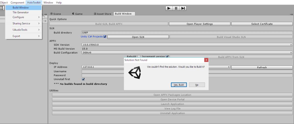 UnityからVisual Studioソリューションを出力