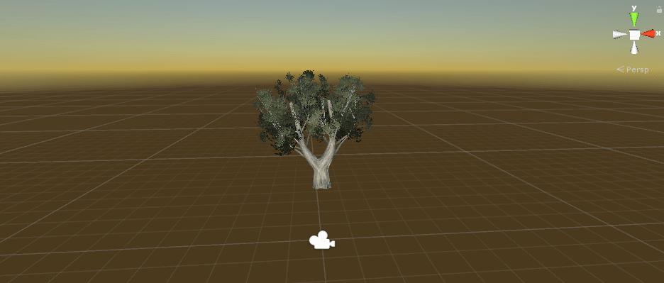 普通の緑の木