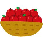 一山(ひとやま)売りしているリンゴ